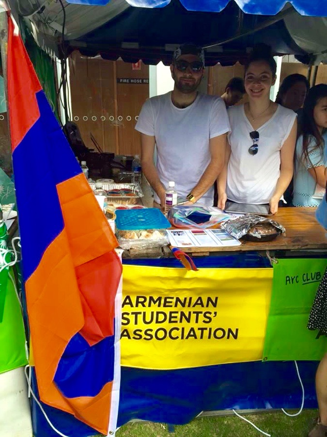 Armenian students of UNSW at their stall on orientation week earlier this year